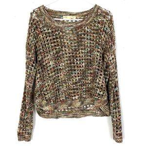 Staring At Stars Metallic Multicolor Boxy Sweater